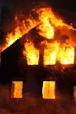 A house burning
